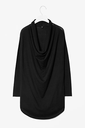 cos-drape-neck-top