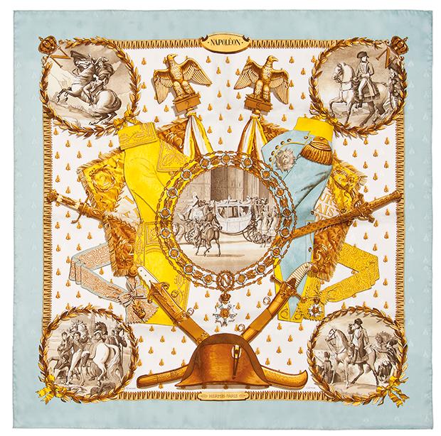 Hermes 'Napoleon' Silk Scarf / Image via Sunshine Sachs