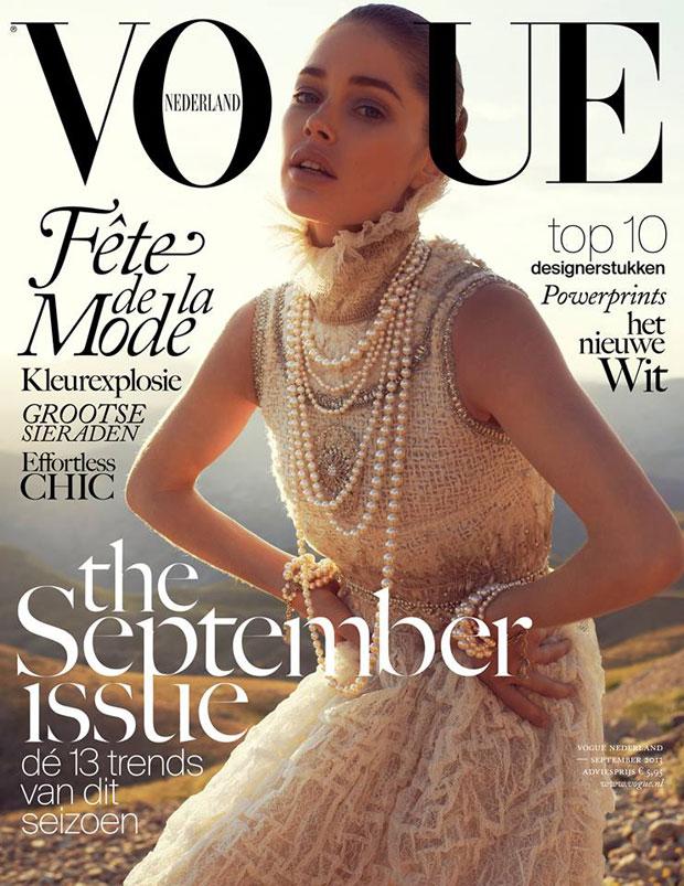 Doutzen Kroes photographed by Paul Bellaart for Vogue Netherlands