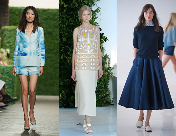 The Hits: Misha Nonoo, Delpozo, Organic by John Patrick. Images via style.com and IMAXtree