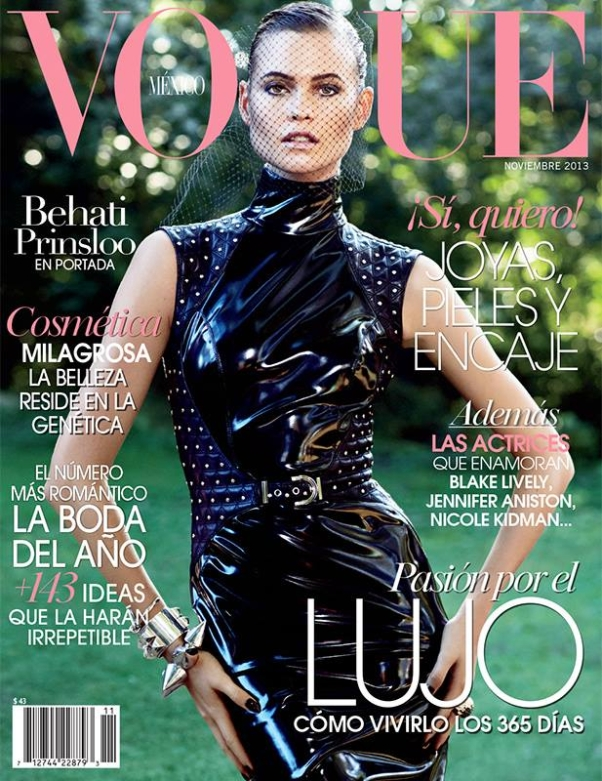 Behati Prinsloo on the cover of Vogue Mexico November 2013