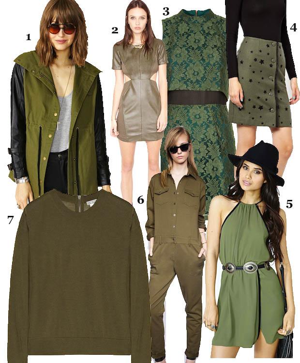 celeb gtl green collage