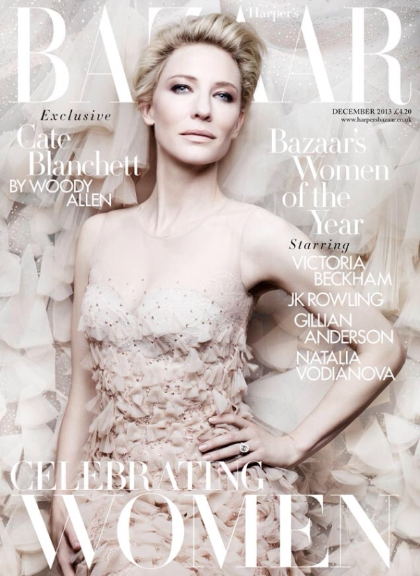 Cate Blanchett on the cover of UK Harper's Bazaar December 2013