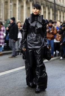 Paris Fashion Week Street Style: All-Black and Colorful Outfits Intermix