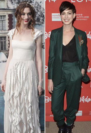 Anne Hathaway before and after Rachel Zoe