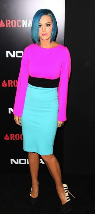 Katy Perry in Fausto Puglisi at Roc Nation's 2012 Pre-Grammy Brunch