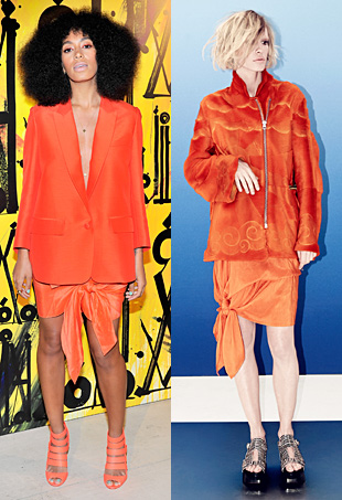 Solange Knowles in Acne Studios and Jimmy Choo