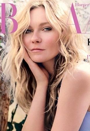 Kirsten Dunst on cover of UK Harper's Bazaar May 2014