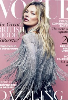 Kate Moss Appears on Cover of British Vogue for the 35th Time, Unveiling Her New Collection for Topshop