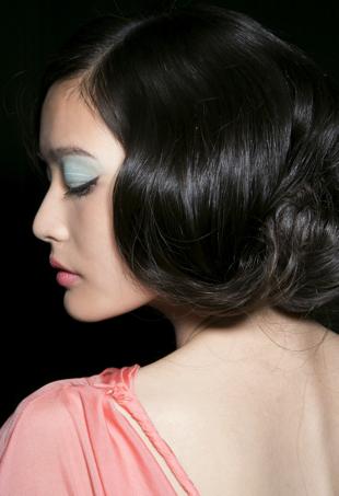 Spring 2014 runway Badgley Mischka makeup closeup