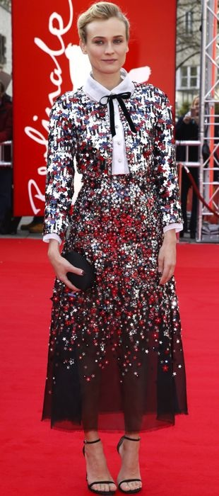 Diane poses at the Berlinale International Film Festival in Chanel