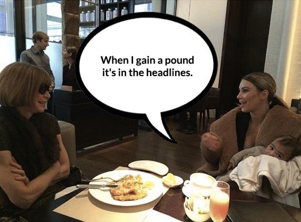 Kim Kardashian Anna Wintour Vogue cover