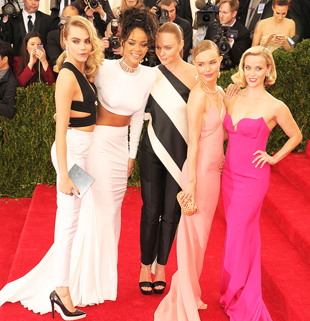 Reese Witherspoon,Cara Delevinge,Rihanna,Stella McCartney,Kate Bosworth