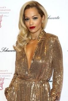 Rita Ora Dazzles in Emilio Pucci's Pre-Fall 2014 Gold Sequin Gown