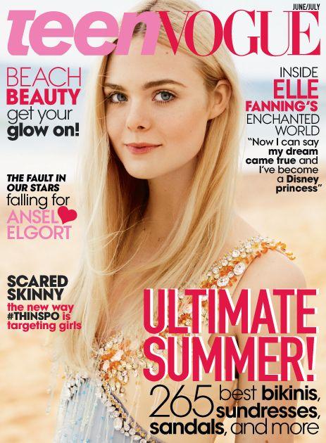 Teen Vogue June July 2014 Elle Fanning Daniel Jackson