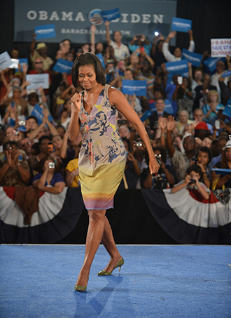 Michelle Obama Designer Clothing Dancing