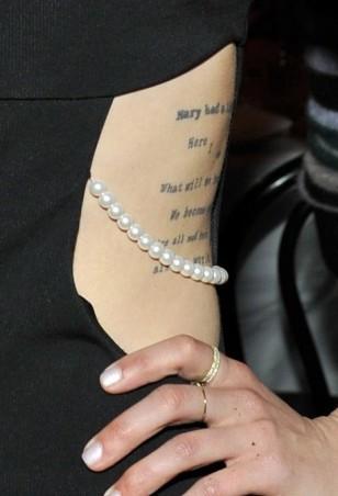Diana Agron tatto