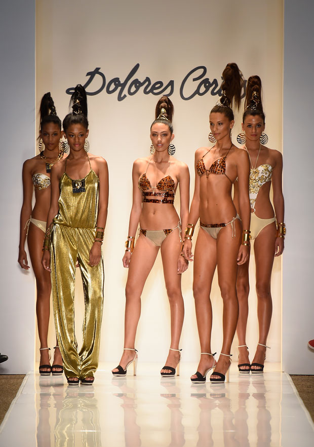Models walk the runway during the Dolores Cortes show with TRESemme 2015