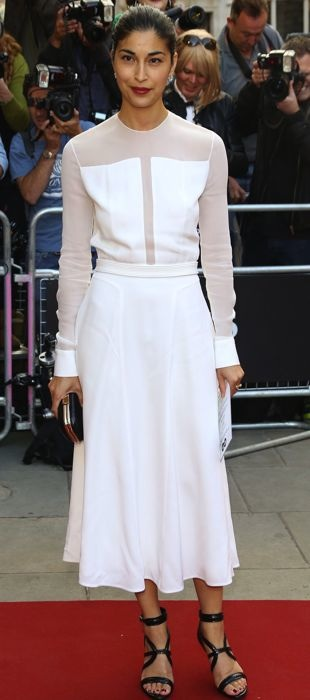Carolina Issa in an ivory BOSS dress at GQ Awards