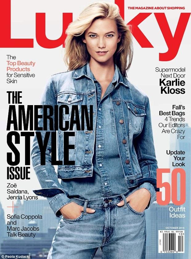 Lucky Magazine Oct 14 Karlie Kloss