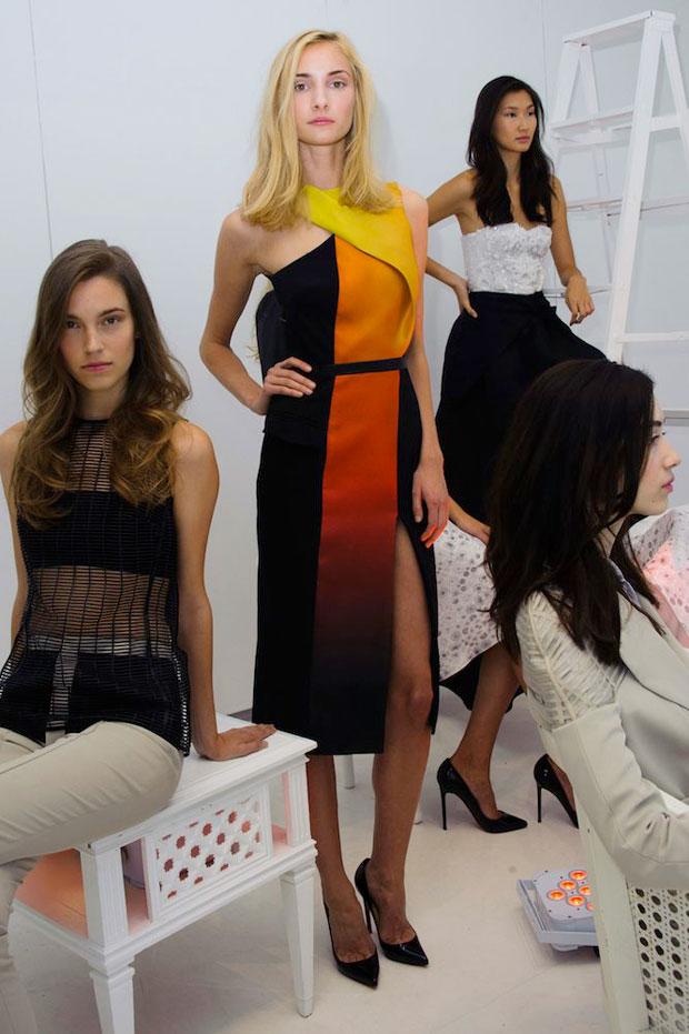 Mathieu Mirano's fire dress, Spring 2015
