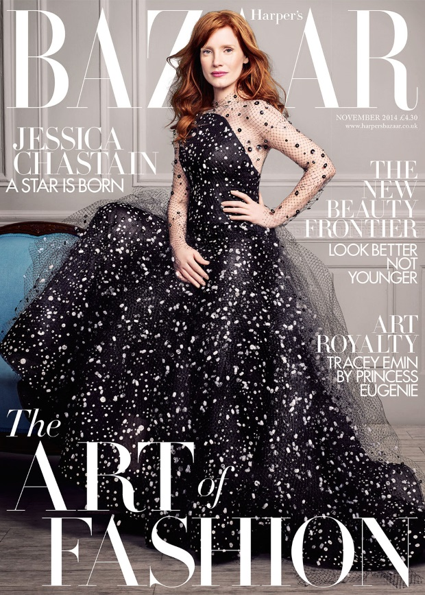 UK Harper's Bazaar November 2014 Jessica Chastain