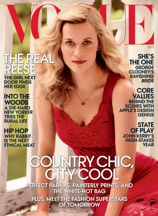 US Vogue October 2014 Reese Witherspoon