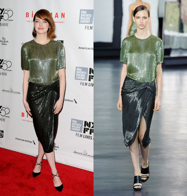 Emma Stone in Jason Wu
