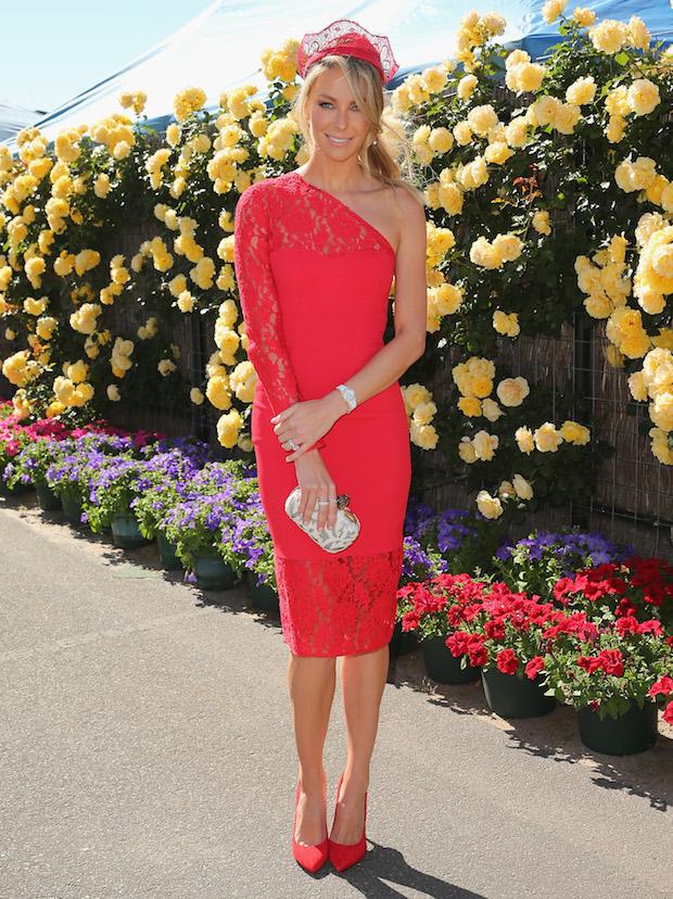 Get The Look Jennifer Hawkins Red On Red Race Wear