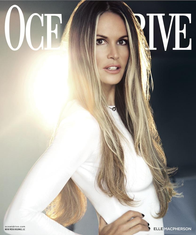 Elle Macpherson on Ocean Drive's November Cover