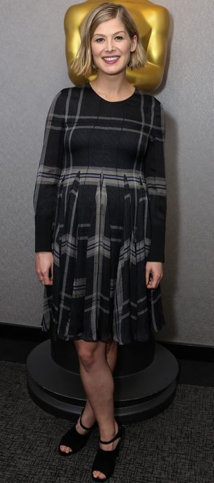Rosamund Pike at a special Gone Girl screening in Vera Wang