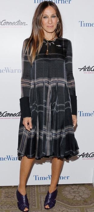 Sarah Jessica Parker in Vera Wang at ArtsConnection 35th Anniversary Spring Benefit