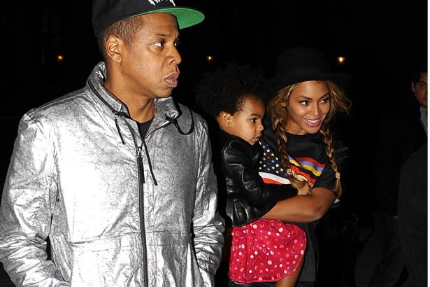 Jay Z, Blue Ivy, Beyonce