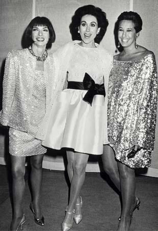 Anna Wintour, Carolyne Roehm and Donna Karan
