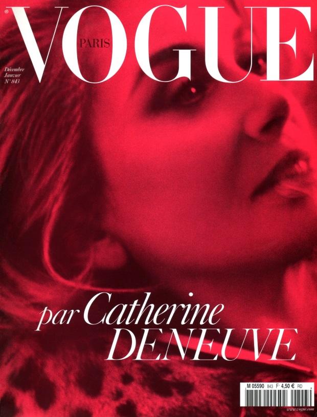 Flashback Vogue Paris Dec 03/Jan 04 Catherine Deneuve