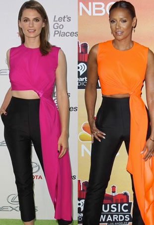 c42dcf6a855 Style Showdown  Three Stars Get Decked Out in Roksanda Ilincic s Cut-Out  Jumpsuit and More Matching Celebs