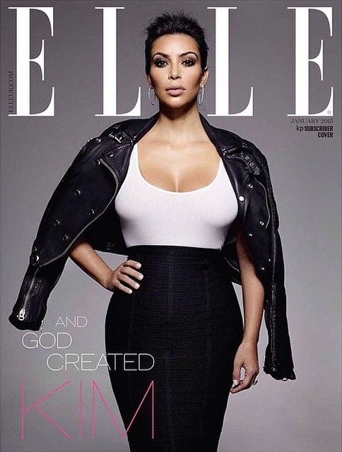 UK Elle January 2015 Kim Kardashian