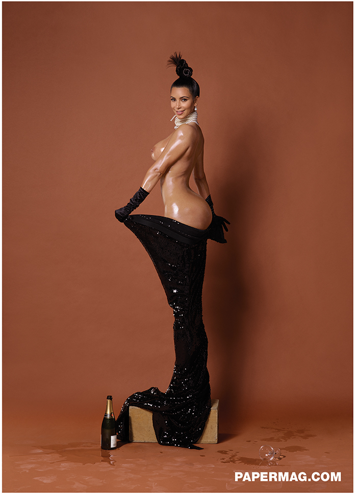 Kim Kardashian partially exposes herself