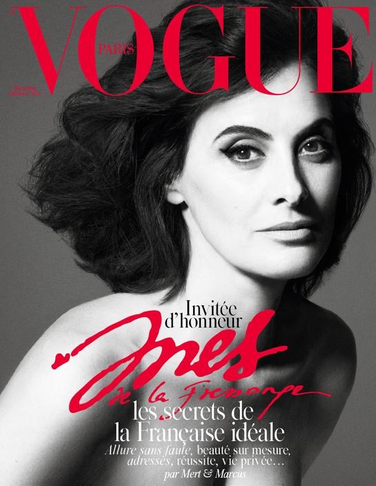 Vogue Paris December 2014 January 2015 Ines de la Fressange