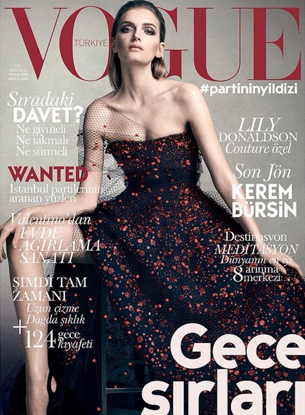 Vogue Turkey December 2014 Lily Donaldson