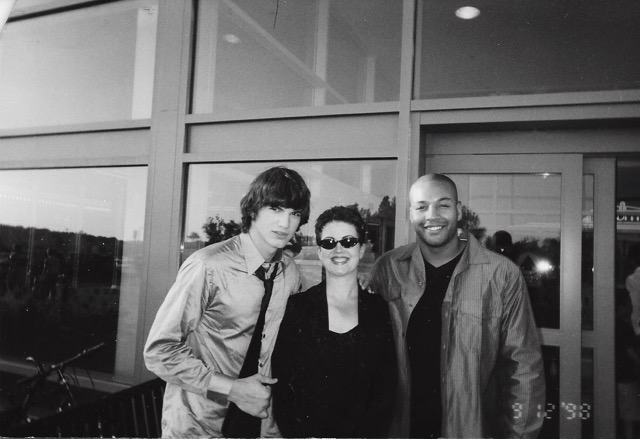 Ashton Kutcher reuniting with The Clarkes in 2008 after he signed with That 70s Show. Image: Mary and Jeff Clarke