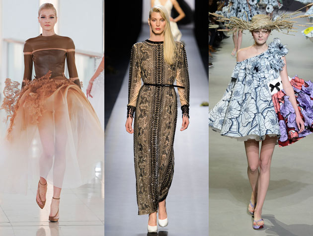 The Hits: Stéphane Rolland, Jean Paul Gaultier, Viktor & Rolf. Images via IMAXtree.