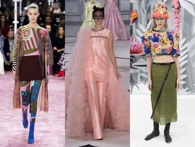 The Misses: Christian Dior, Giambattista Valli, Chanel. Images via IMAXtree.