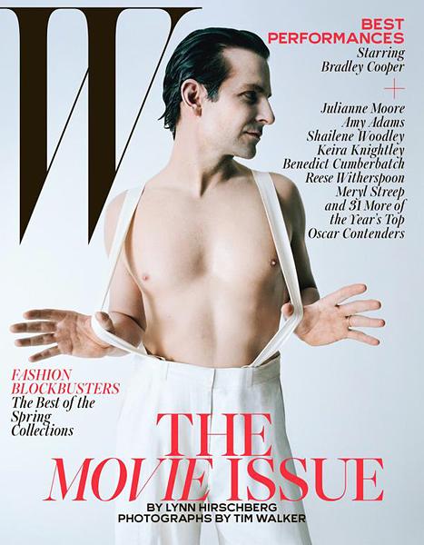 Bradley Cooper on W magazine; Image: Tim Walker