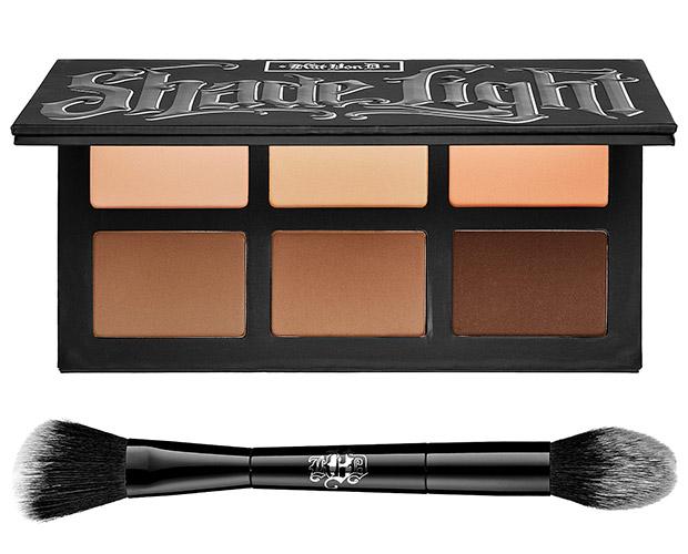Kat Von D Shae + Light Contour Palette, $46, Face Brush, $36, at Sephora