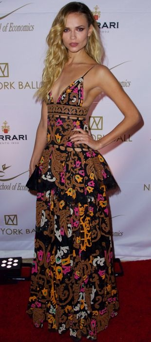 Natasha Poly in an Emilio Pucci dress at The New York Ball