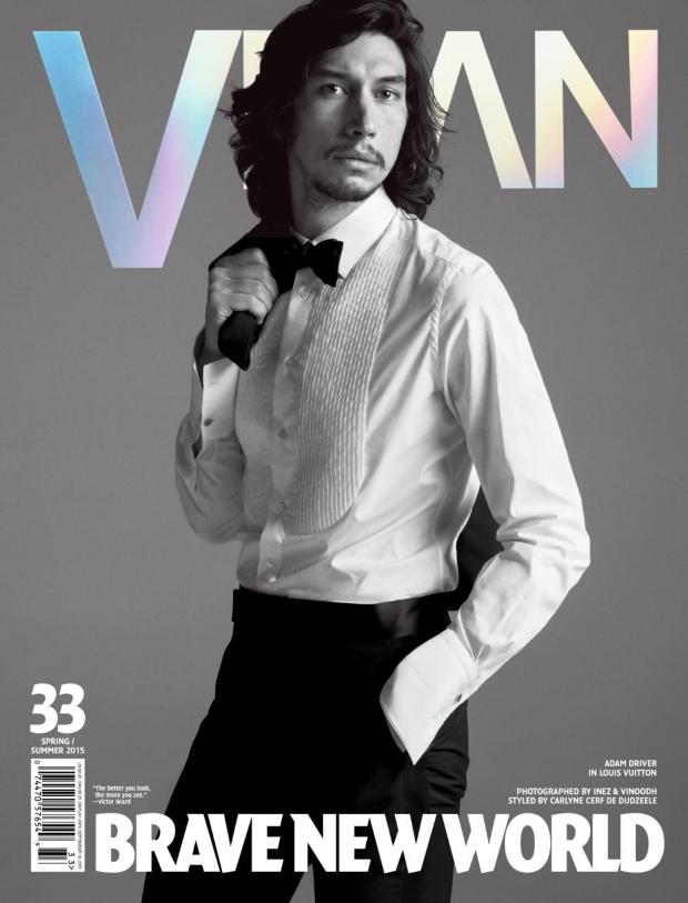 VMan #33 Spring/Summer 2015 Adam Driver by Iez & Vinoodh
