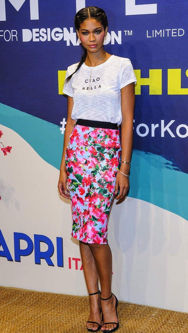 Chanel Iman in MILLY for DesigNation at the collection launch