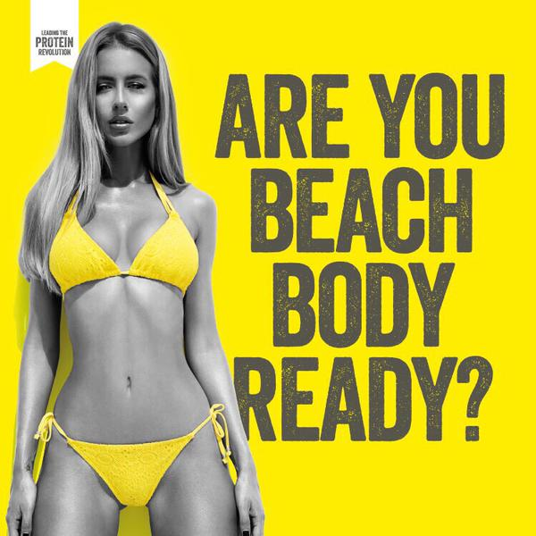 Protein World beach body ready ad