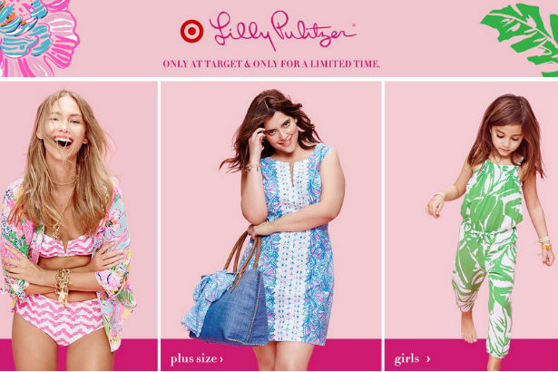 Lilly Pulitzer Target homepage